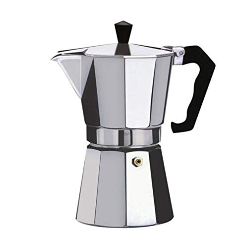 bansd Moka Express Caffettiera in Alluminio, Argento, 6 Tazze,Caffettiera in Alluminio Moka Espresso Caffettiera Caffettiera Caffettiera Moka Pot Argento 6 Tazze