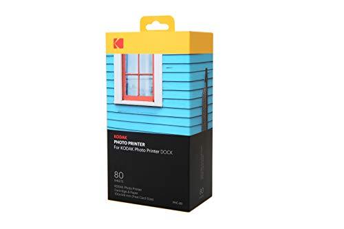 Kodak Station & W-LAN - Cartucho de recambio para impresora fotográfica y papel fotográfico (80 hojas)