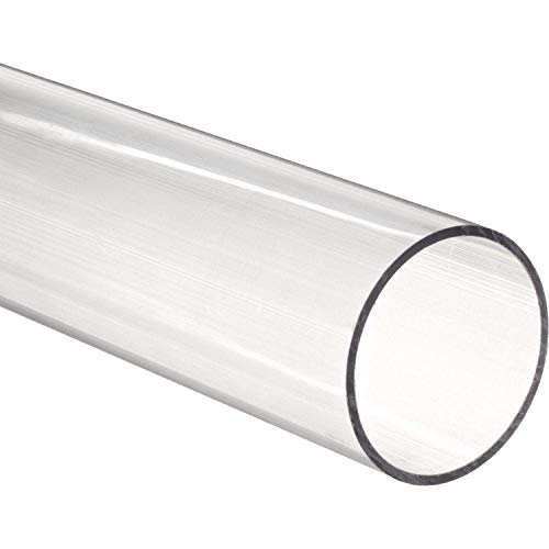 72' Long Acrylic Round Tube (Clear) - 3/8' ID x 1/2' OD x 1/16' Wall (Pack of 5)