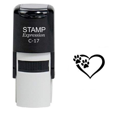 StampExpression - Tiny Paw Prints Dog Lover Self Inking Rubber Stamp - Black Ink (A-6324)