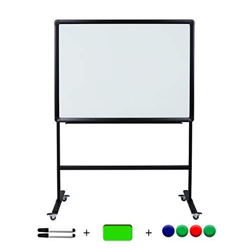 AICN Whiteboard Aus Magnetischem Gehärtetem Glas Standart Doppelseitige Schreibtafel Bürotreffen Lehr- und Vorlesungstafel Wandrad Abnehmbare Handschrifttafel Notiztafel Löschbare Tafel