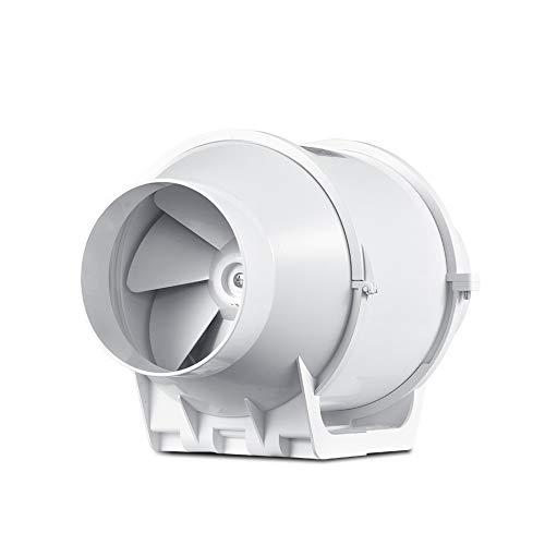 JEONSWOD Ventilador de conducto en línea para el hogar Ventilador de tubo de ventilación Ventilador de aire Ventilador de escape 110-240 V Ventilador Turbo de refuerzo para tienda de cultivo doméstico