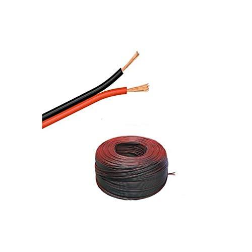 (0,50€/m)5m LED Kabel Zwillingslitze 2x 0,50mm² schwarz/rot 2-adrig, 100% Kupfer!