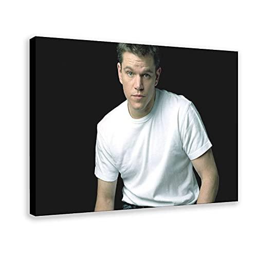 Matt Damon Poster Film Poster Roles Poster Canvas Poster Bedroom Decor Sports Landscape Office Room Decor Gift 16×24inch(40×60cm) Frame-style1