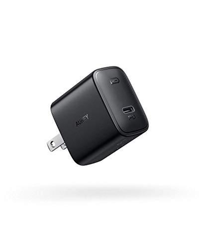 AUKEY 世界最小型 Power Delivery3.0対応 USB-C充電器 ACアダプター TypeC 18W 折畳式プラグ USB充電器 PD3.0対応 急速充電器 iPhone Xs Max / iPhone Xs / iPhone XR / iPhoneX / 8 / 8 Plus/iPhone 11 / 11 Pro / 11 Pro Max / Google Pixel / Nintendo SwitchなどのPD充電に対応(ブラック)PA-F1