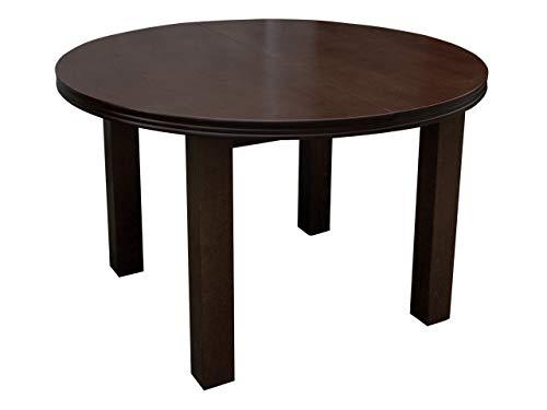 Mirjan24 Esszimmertisch S33 Fi, Oval Esstisch, Farbauswahl, Praktischer Auszugstisch, Tisch für Esszimmer, Küchentisch, Ausziehtisch (Nuss, 100x140 cm)