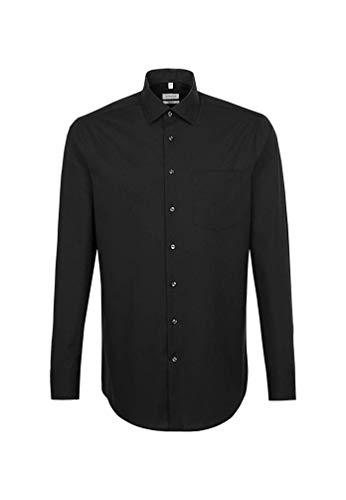 Seidensticker Herren Business Hemd Regular Fit Businesshemd, Schwarz (Schwarz 39), (Herstellergröße: 43)