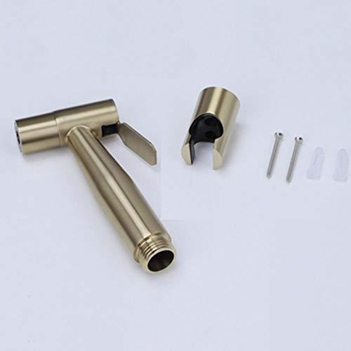 Aseo grifos bidé cepillo de latón oro individual Baño Ducha fría Blow-Fed pistola de pulverización de la boquilla grifos bidé grifos de baño de hardware, estilo 2