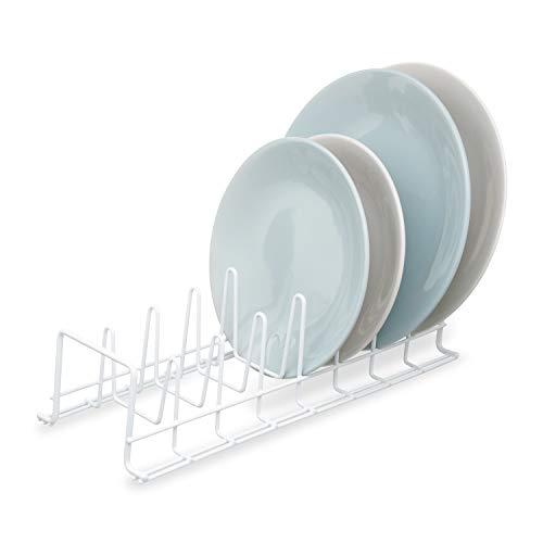 Simplywire - Escurridor para platos de cocina, color blanco