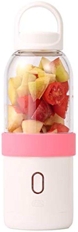 TONGSH Mini mélangeur, Tasse de Presse-Agrumes portable USB - Recharge Personal petit avec Bouteille de mélangeur de jus de Fruits - Mélangeuse électrique pour Smoothies (Couleur   Rose)