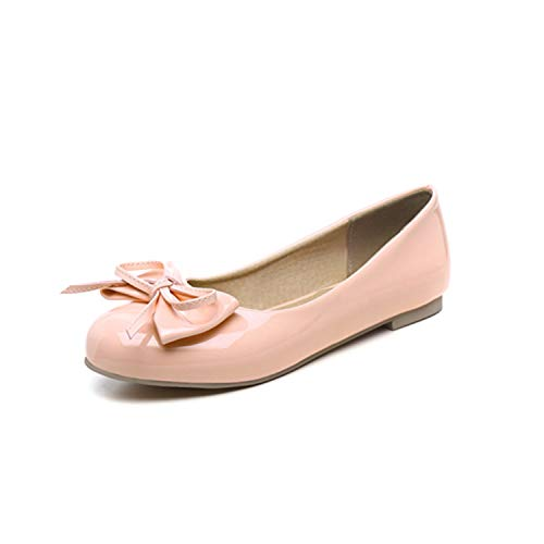 Plus Size 47 Sweet Women Flats New Spring Autumn Flat Loafers Shoes Woman Casual Nurse Work Ballet Shoes Women Black Pink White Pink 5.5