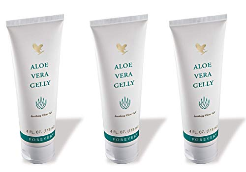 Forever Living Aloe Vera Gelly, 4 Fl. Oz,100% stabilized aloe vera gel (3 Pack)