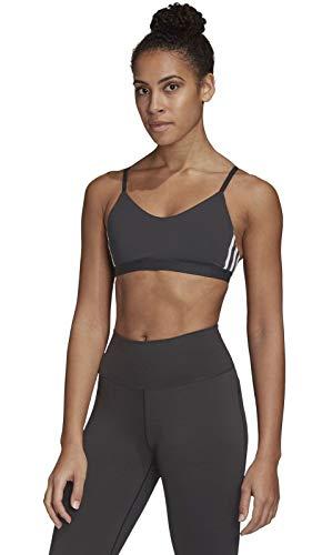 adidas Damen All Me 3-Streifen Sport-BH, Black/White, XS