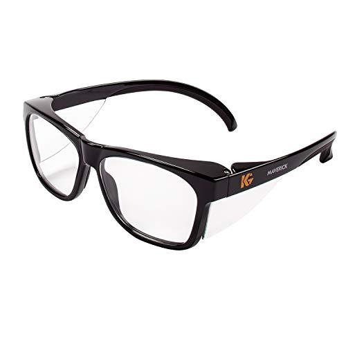 Kleenguard 49309 Maverick Safety Glasses, Black (Pack of 12)