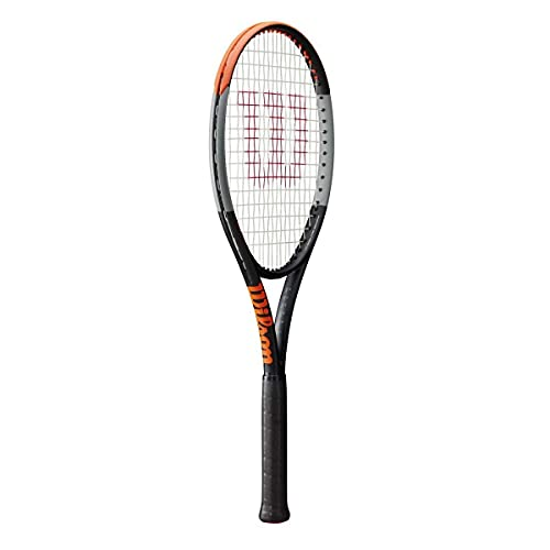 Wilson Racchetta da Tennis Burn 100 LS V4.0, per Giocatori amatoriali ambiziosi, Nero/Grigio/Arancione, WR044910U2