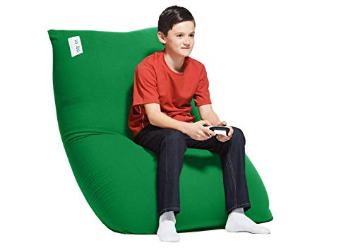 Yogibo Midi Bean Bag for Kids, Teens and Adults, Beanbag Recliner Lounge Chair for Gaming, Lounging, and Sitting, Celtic Green