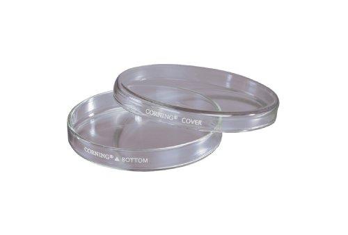 Corning Soda Lima vidrio placas de Petri cultura plato con tapa, 100mm diámetro x 15mm de altura (caja de 24)