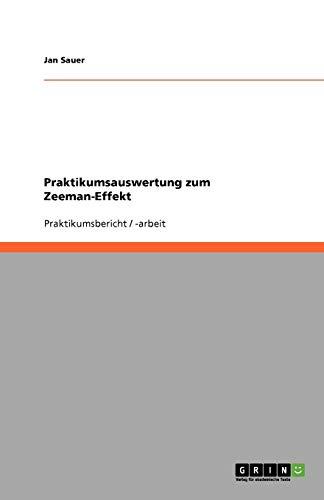 Praktikumsauswertung zum Zeeman-Effekt