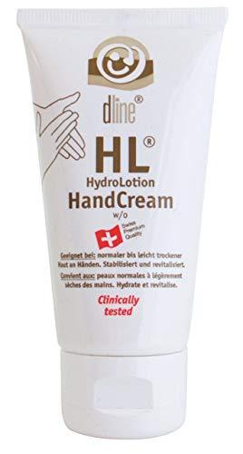 dline HL-HydroLotion-HandCream 50ml, hochwertige hypoallergene Händeschutzcreme mit Pflegeeffekt, ohne störenden Fettfilm, w/o, Lipide 20% Tube (1 x 50 ml)