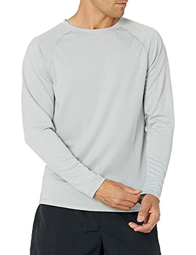 Kanu Surf Men's UPF 50+ Long Sleeve Rashguard Swim Shirt, Gray, XX-Large