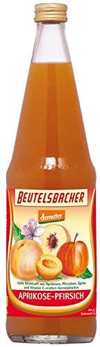 Beutelsbacher Bio Aprikose-Pfirsich-Saft Demeter (6 x 700 ml)
