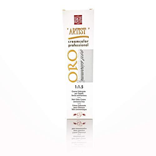 Tinta per Capelli Professionale Colore Caramello New Color Senza Ammoniaca 6/07 Permanente 100ml Made in Italy