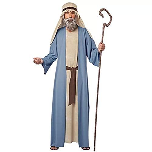 thematys Jesus Schaf-Hirte Kostüm-Set für Herren - perfekt für Cosplay, Karneval & Halloween - Einheitsgröße 160-180cm