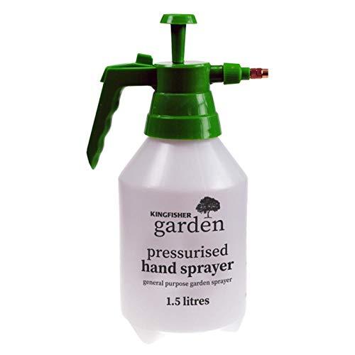 Garden Sprayer, 1.5 Liters Pressurized Hand Sprayer, Weed Killer Pump Sprayer, Hand Held Adjustable Nozzle Pump Action Pressure Sprayer, Pesticide, Herbicide, Garden Cleaning Spray Bottle