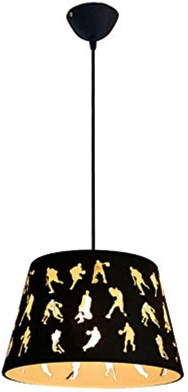 Moderne Minimalistische Kronleuchter Persnlichkeit Kreative Eisen Lampe Wohnzimmer Schlafzimmer Korridor Restaurant Bar Cafe Kronleuchter E27  1 Lampenfassung, Hhe 100 Cm Einstellbar Schwarz