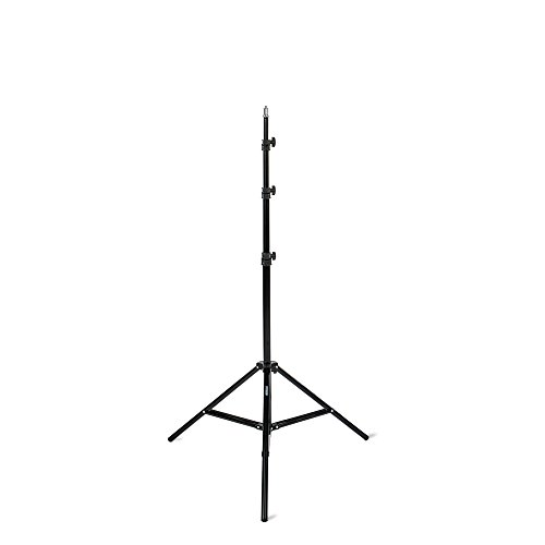 """Fovitec 7'6"""" Spring Cushioned Collapsible Light Stand for Speedlight and Off-Camera Flash Photography, Photo Studio and Video Lights, Reflectors, Modifiers, and Accessories"""