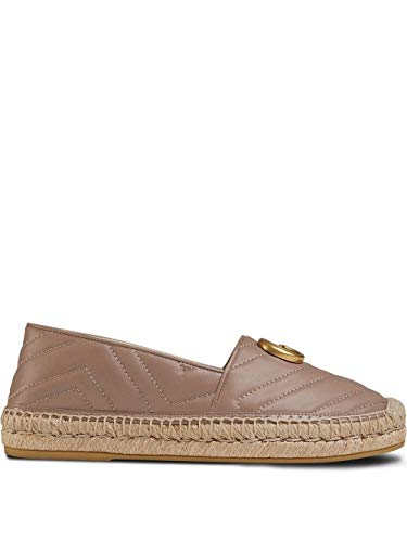 Gucci Luxury Fashion Damen 551890BKO005729 Rosa Leder Espadrilles | Jahreszeit Permanent