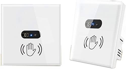 Derybol Interruptor WiFi Sensor infrarrojo Sin Contacto Scan Scan Switch En la Pared no es Necesario Tocar el Panel de Vidrio Regulaciones británicas y Las regulaciones Europeas