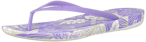 FitFlop Women's IQUSHION Aloha Flip-Flop Frosted Lavender 5 M US