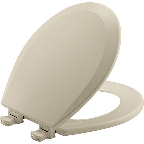 CHURCH 540TTT 006 Toilet Seat will Never Loosen and Provide the Perfect Fit, ROUND, Bone
