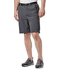 Columbia Men's Silver Ridge Cargo Short, Grill, 34x10