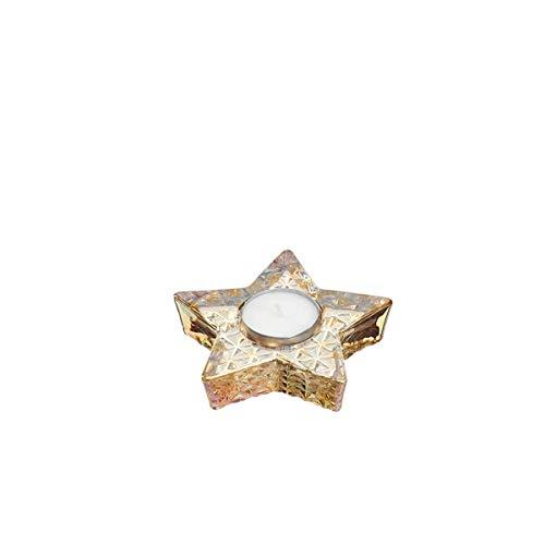 LEONARDO - Aurora - Sternentischlicht/Teelichthalter - Glas - Gold - (HxBxT) 2,5 x 11 x 11 cm