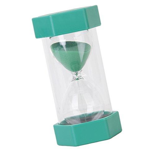 1/15/20/30/45/60 Minuten Sechseckig Sandglass Sanduhr Dekoration Timer für Kochen, Maske, Yoga, Spielen, Zähneputzen - Grün 1 Minuten
