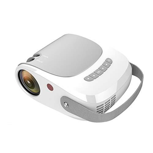 720p HD de Cine en casa proyector de vídeo, USB HDMI 1080p PC Soporte Juego película de la Ayuda ( Size : Multimedia )