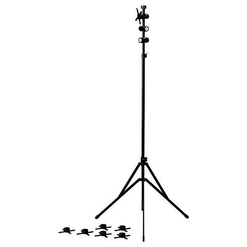 Dreibeinstativ, schwarz, Produktmaße: Länge: 90 cm, Breite: 90 cm, Höhe: 130 cm, min. Höhe: 100 cm, max. Höhe: 180 cm