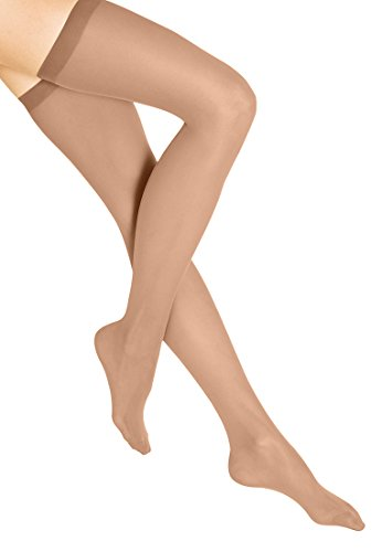 Wolford Damen Fatal 15 seamless Stay-Up 15 DENIER gobi L
