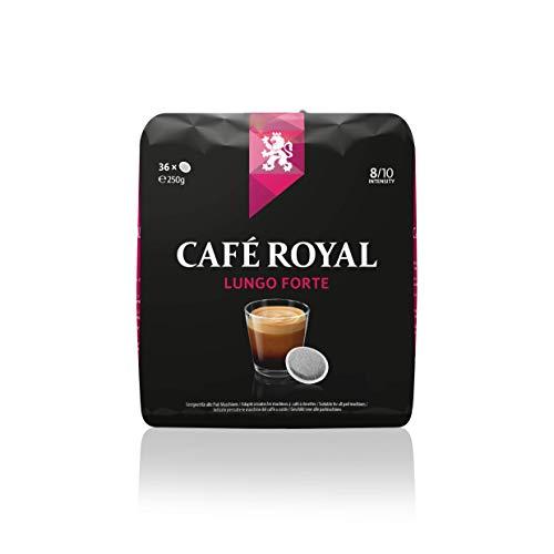 Café Royal Lungo Forte 36 kompatible Kaffeepads für Senseo®*, Intensität 8/10, 1er Pack (1 x 36 Kaffee-Pads)