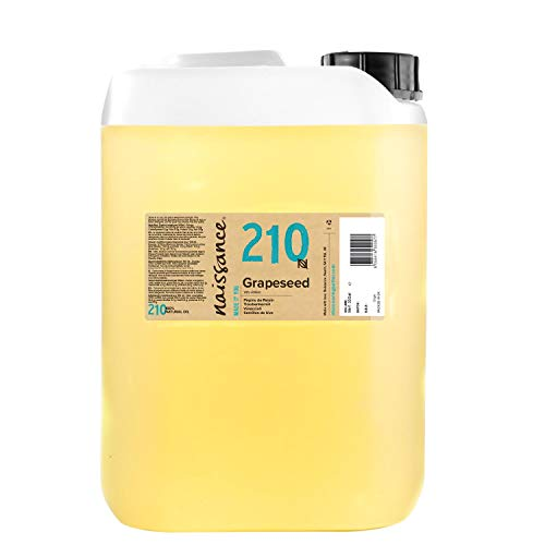 Naissance Grapeseed Oil 5 litres - Natural Moisturiser and Conditioner for...