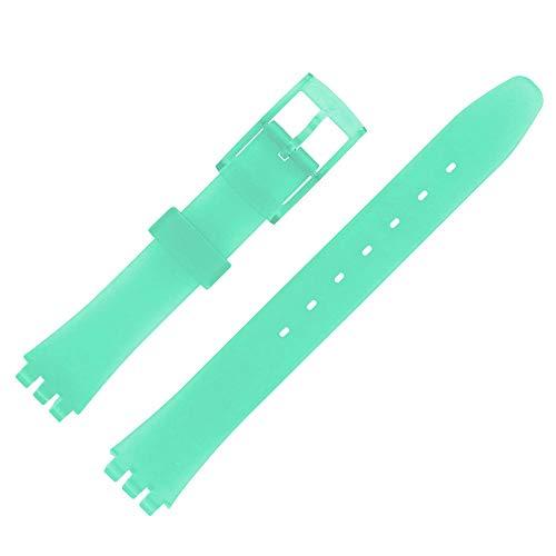 Shopkdo - Correa de reloj de 12 mm, color verde alternativos adaptable para Swatch P38