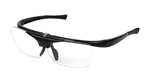 SK11 ハネアゲ式老眼保護メガネ 度数+1.5 ブラック SG-HN15