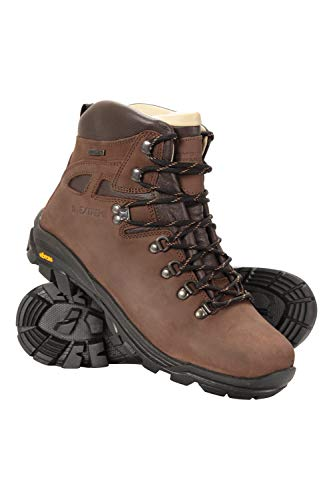 Mountain Warehouse Excalibur Cargadores Impermeables Mens - Zapatos Que Caminan de Breathable, Alto de Cuero, Planta del pie de Vibram Que va de excursión
