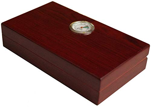 GERMANUS Portable viaggio Humidor in Marrone, Cedro Spagnolo, II