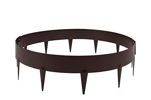 HORNVAL Baumumrandung mit Dornen | runde Rasenkante aus beschichtetem Stahlblech | Bronze | Matt, in DREI Farben und in Zwei Größen erhältlich O2A Ø 0,6 m
