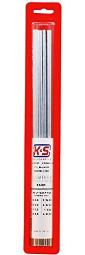 K&S Precision 3403 Round Aluminum Telescopic Tubes, 1/16, 3/32, 1/8, 5/32, 3/16, 7/32, 1/4, 9/32 O. D. X .014