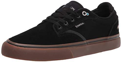 Emerica mens Dickson Low Top Vulc Skate Shoe, Black/Gum, 9.5 US