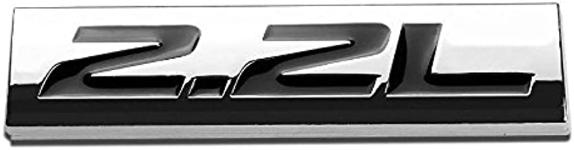 UrMarketOutlet 2.2L Black/Chrome Aluminum Alloy Auto Trunk Door Fender Bumper Badge Decal Emblem Adhesive Tape Sticker